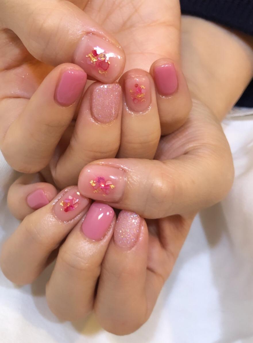 스퀘어,핑크,스팽글