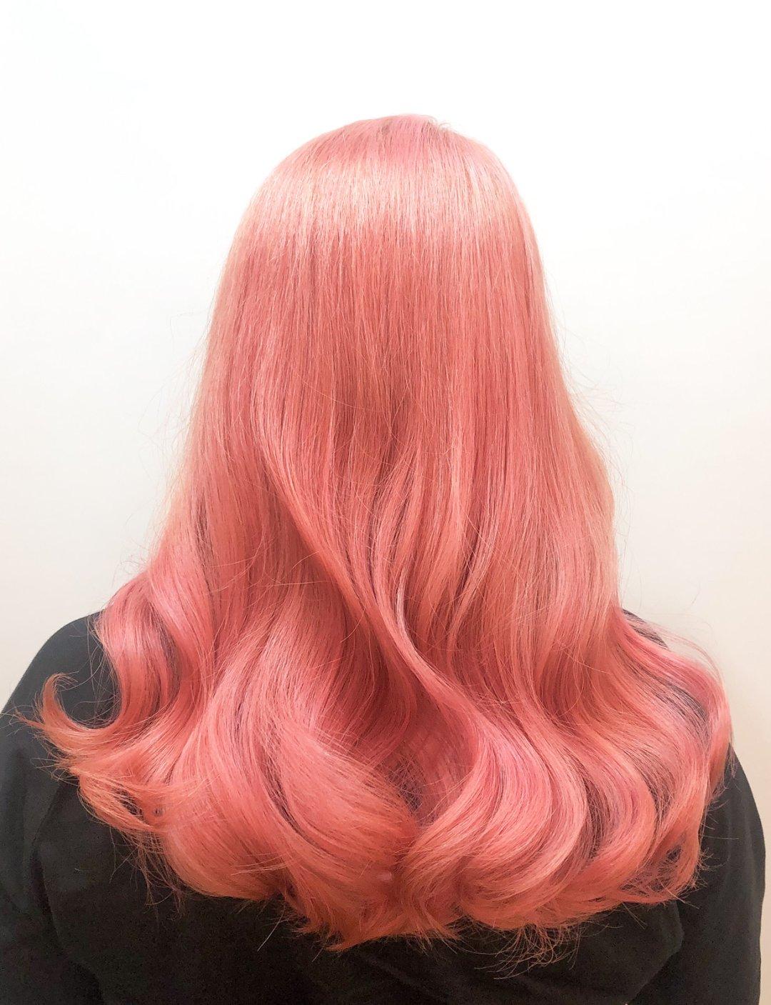 레이어드컷,핑크브라운