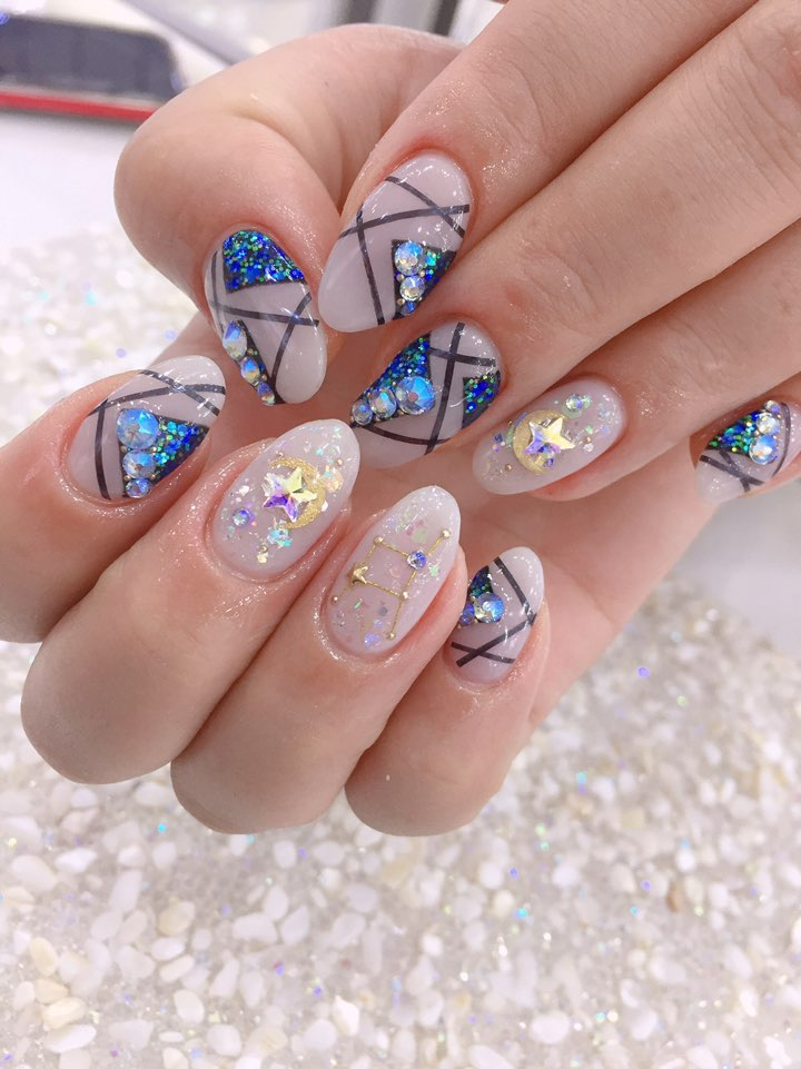 아몬드,블루,블랙,라인테이프,파츠