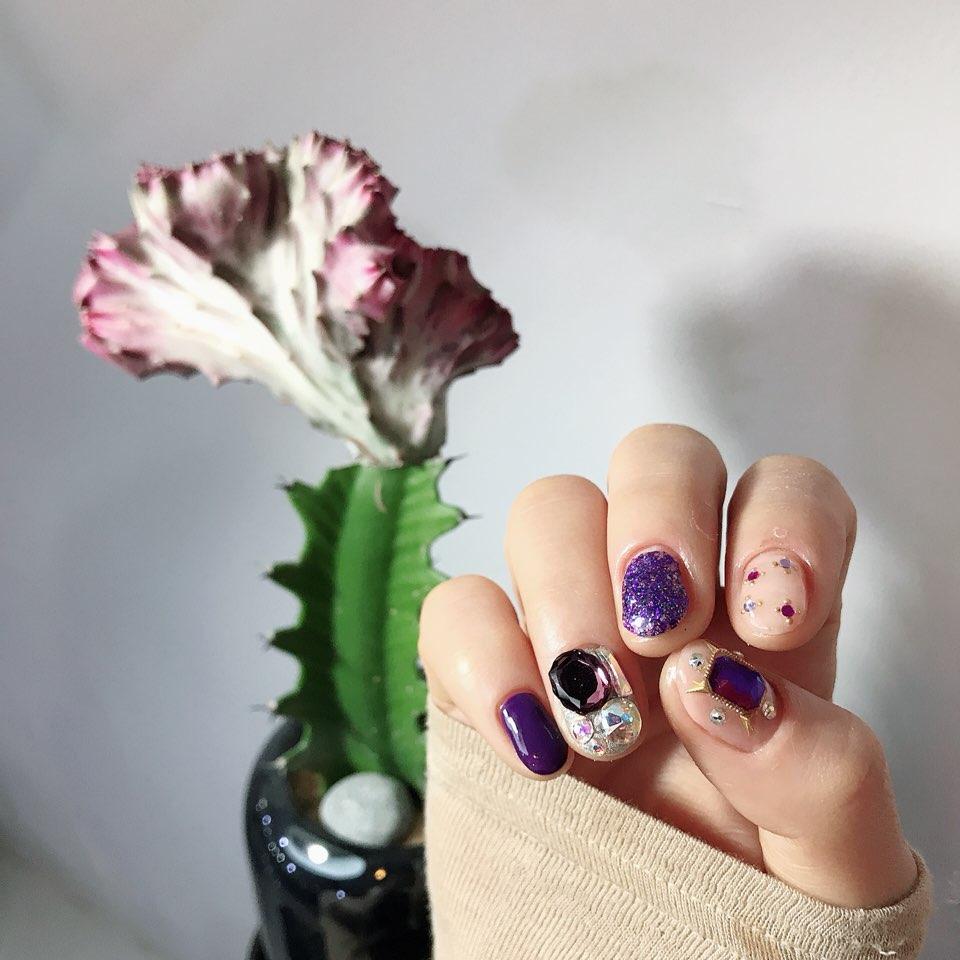 라운드,퍼플,핑크,파츠,글리터