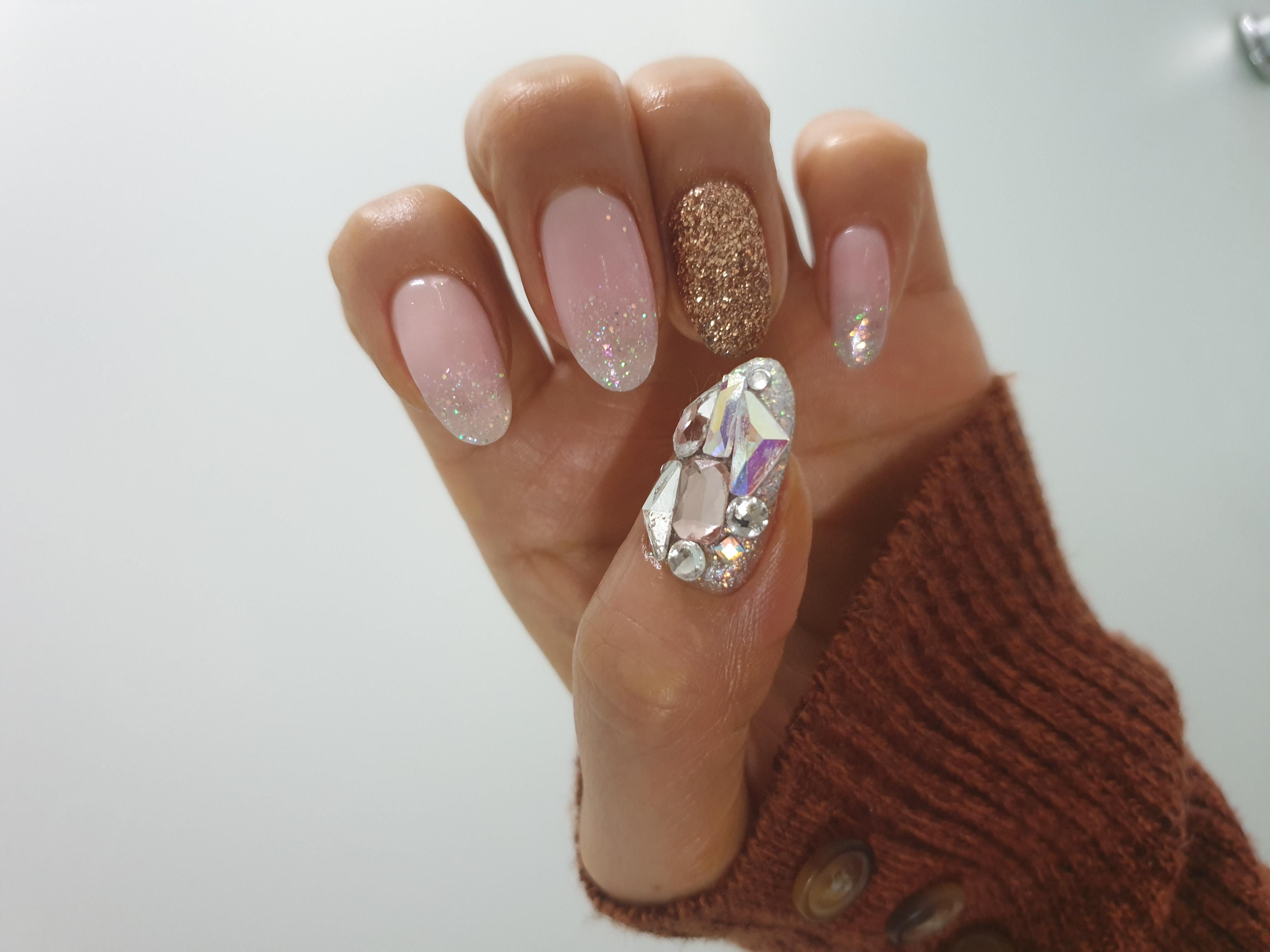 아몬드,핑크,글리터,파츠