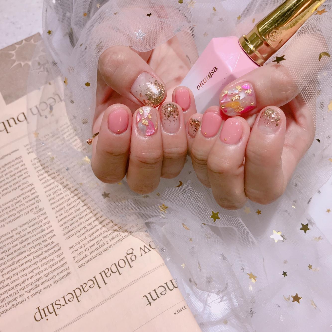 라운드,핑크,자개