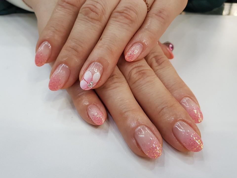 아몬드,핑크,글리터